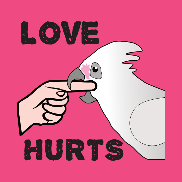 Love Hurts - Bare Eyed Cockatoo Parrot