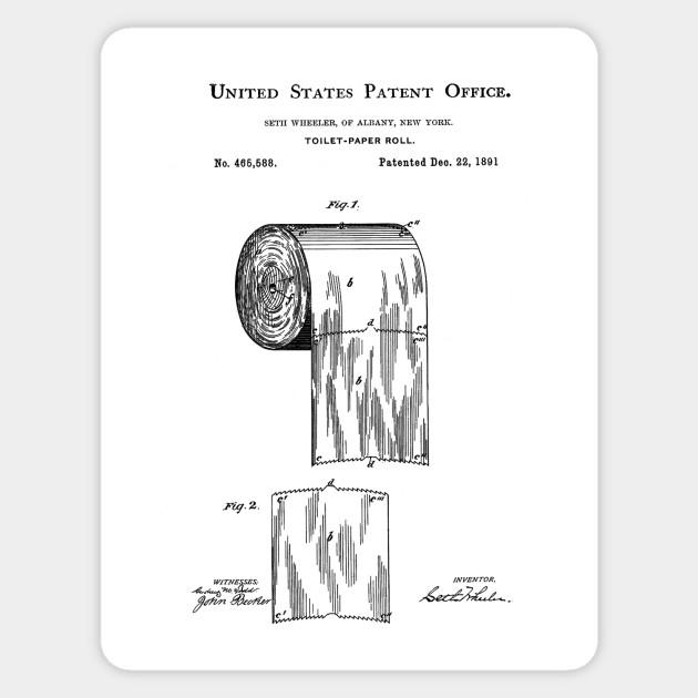 Toilet Paper Patent Black