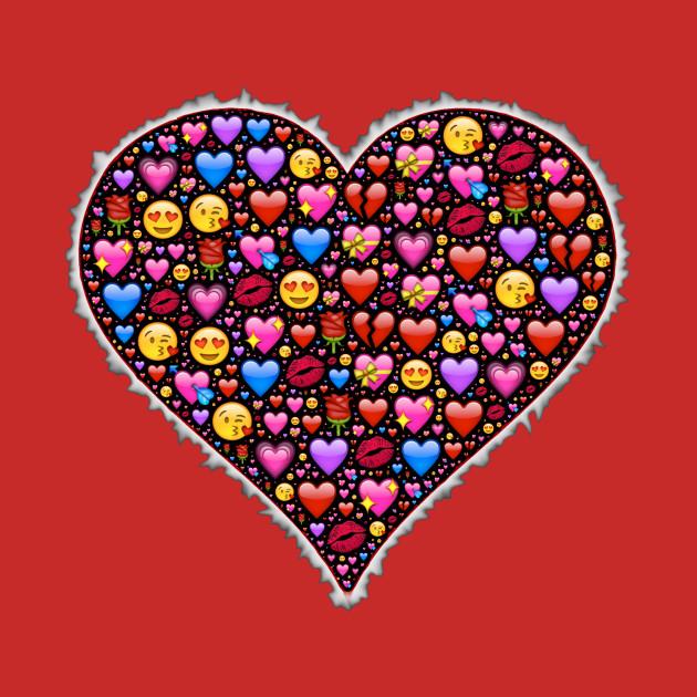 A Heart Full of Love Emojis
