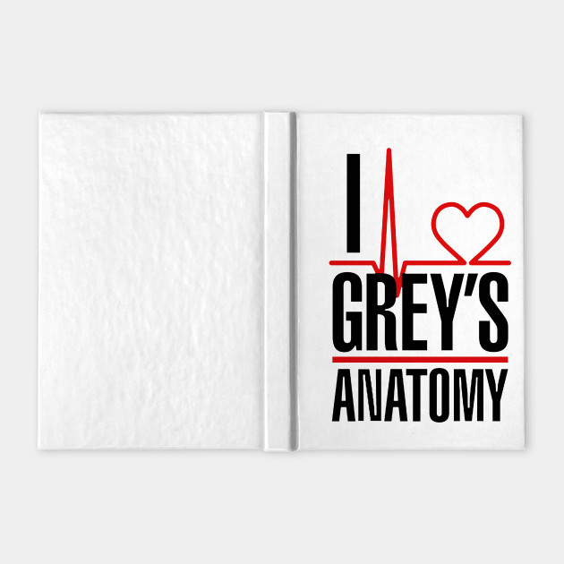 I love Grey\'s Anatomy - I Love Greys Anatomy - Notebook | TeePublic