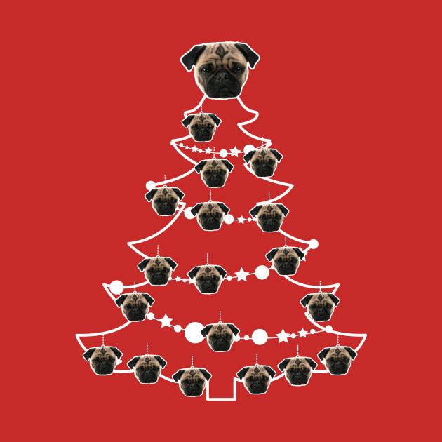 Pug Dog Christmas Tree Baubles Pug T Shirt Teepublic