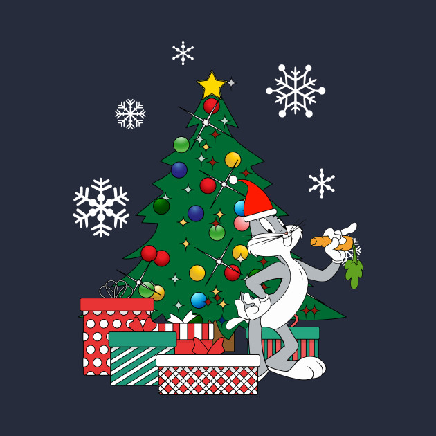 bugs bunny around the christmas tree bugs bunny t shirt teepublic - Elmer Fudd Blue Christmas