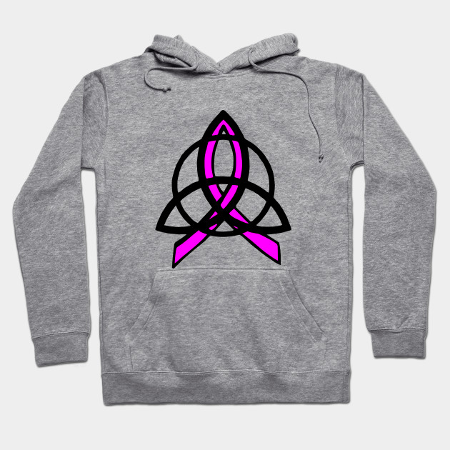 Pink Ribbon Celtic Trinity Knot Hoodie