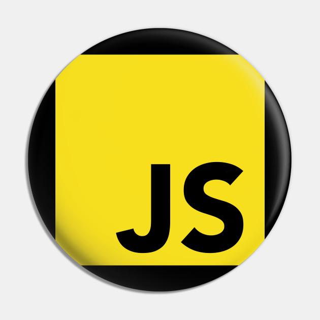 javascript programmer logo javascript logo pin teepublic javascript programmer logo