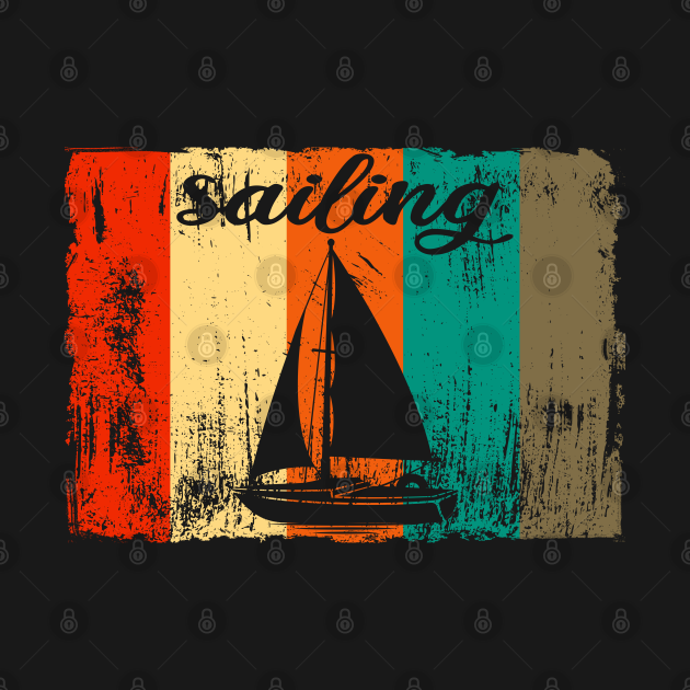 Retro vintage sailing design gift  idea
