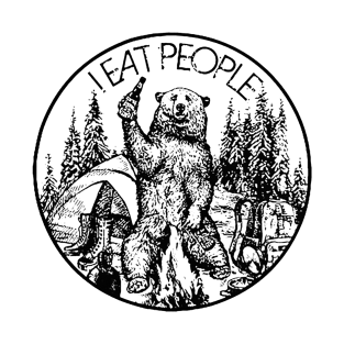 CAMPING BEAR - I EAT PEOPLE t-shirts