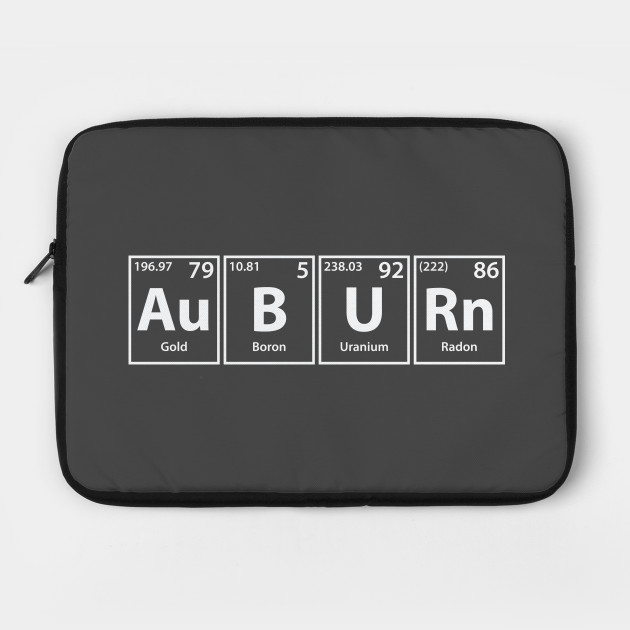 Auburn (Au-B-U-Rn) Periodic Elements Spelling