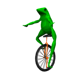 Dat Boi: frog on unicycle t-shirts