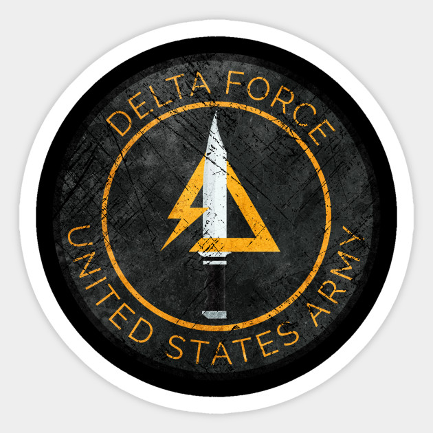 Delta Force Vintage Insignia Delta Force Sticker Teepublic
