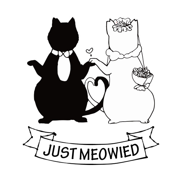 just meowied funny artistic new couple gift