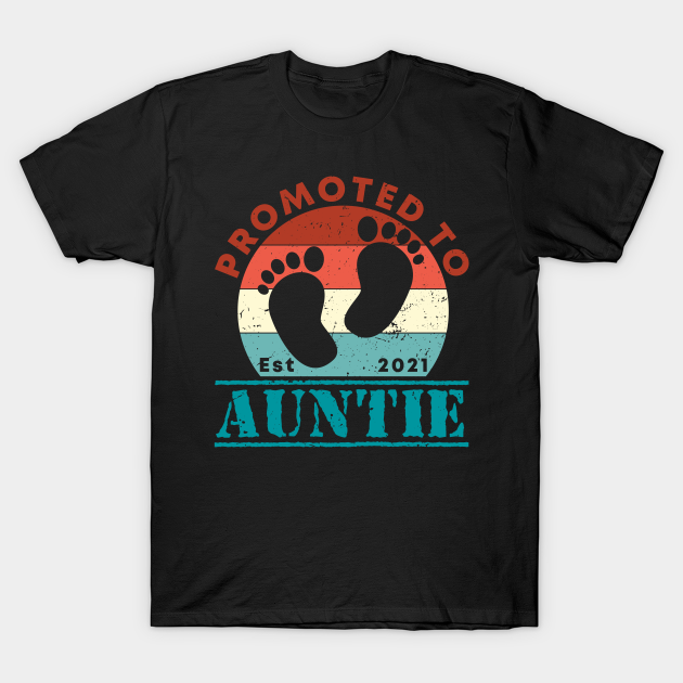 Vintage Promoted to Auntie 2021 new Aunt gift Auntie ...