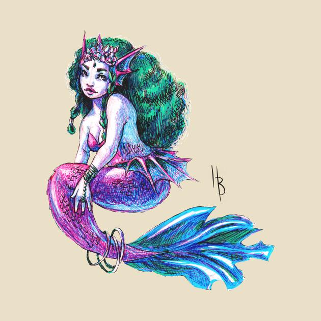 Colorful mermaid