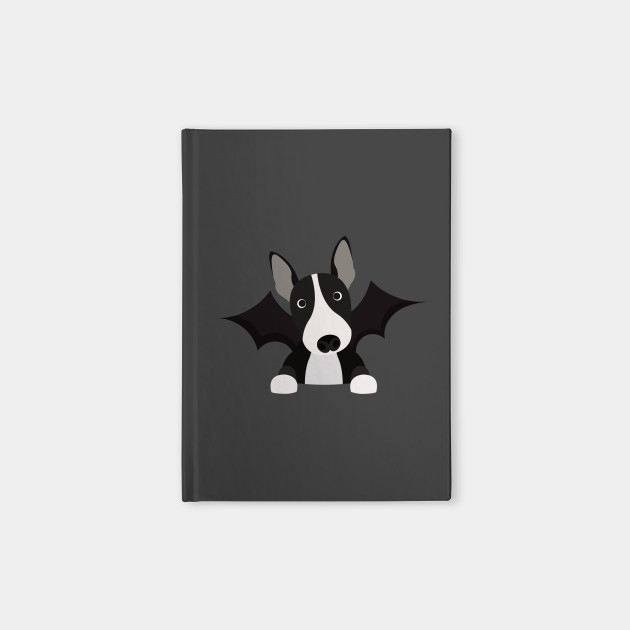 English bull terrier black and white dress