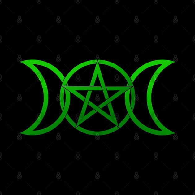 Triple Moon Goddess green ombre