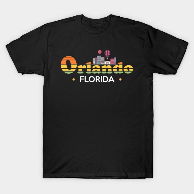 b6343f244d9 Orlando Florida Skyline Design - Orlando - T-Shirt