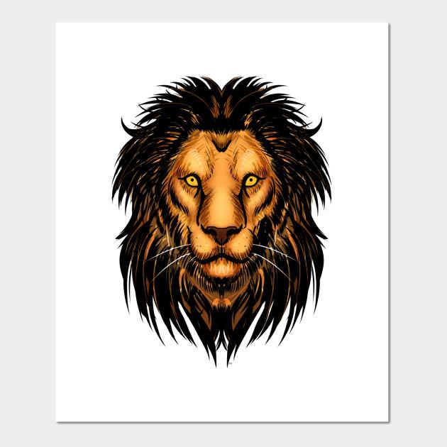 lion artwork lion posters and art prints teepublic