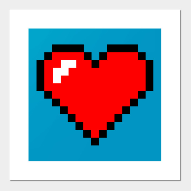 Pixel Heart Large Zelda Posters And Art Prints Teepublic Find & download free graphic resources for pixel heart. pixel heart large