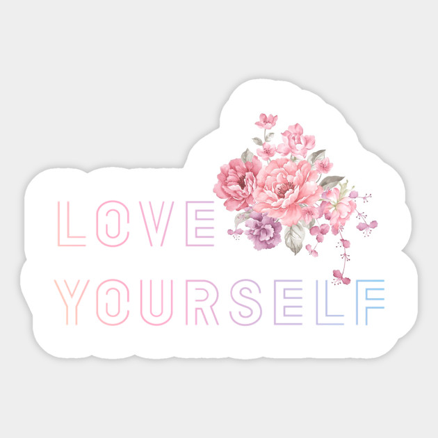 how to draw bts love yourself flower