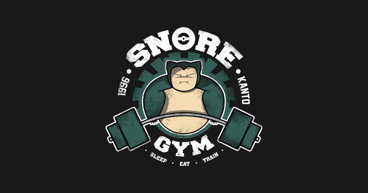Snore gym pokemon baseball t shirt teepublic