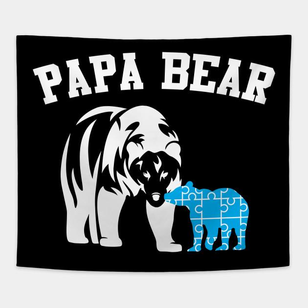 07df4b9a Autism Papa Bear - Autism - Tapestry   TeePublic