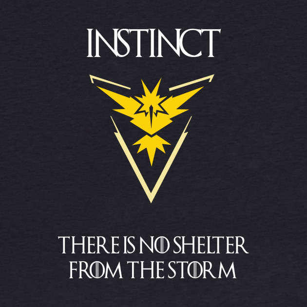 Team Instinct - Pokémon Go THERE IS NO SHELTER FROM THE STORM