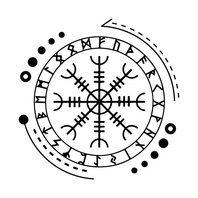 Helm Of Awe Aegishjalmur Norse Pagan Symbol Helm Of Awe
