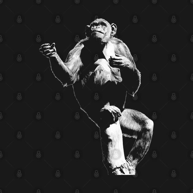 Wherefore art thou? Chimpanzee Wildlife Art