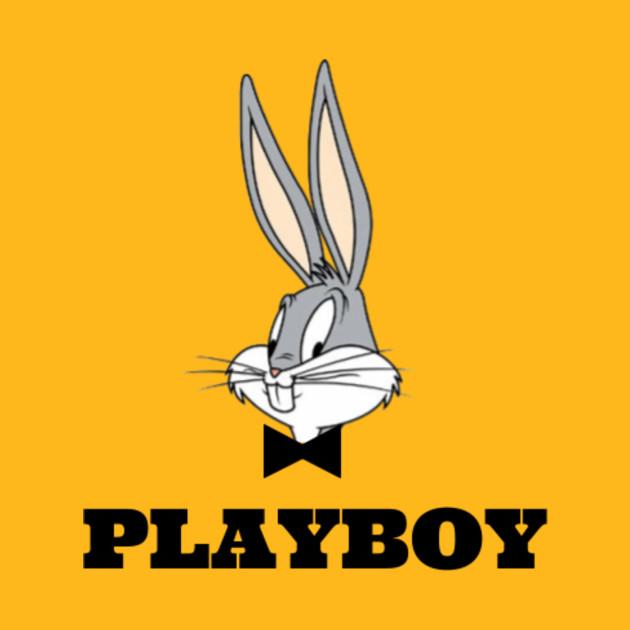 Playboy Bugs Bunny (White Edition) - Humour - T-Shirt | TeePublic