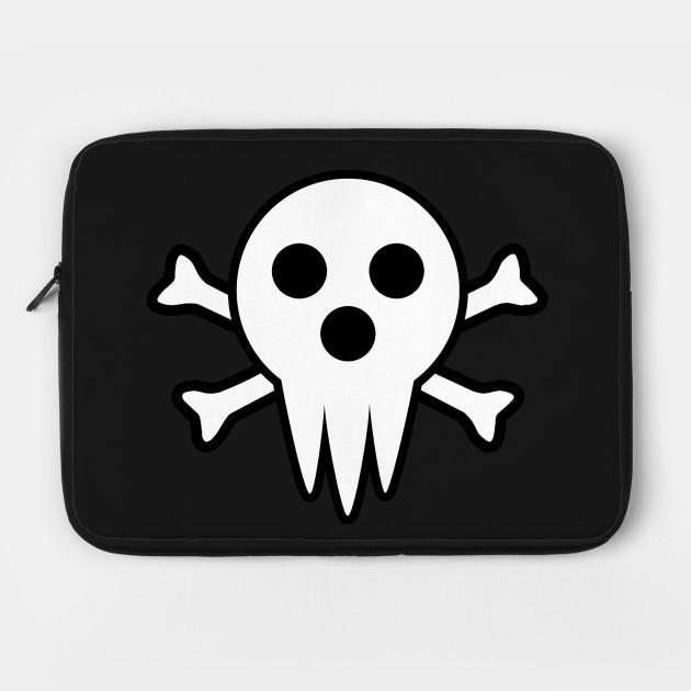Soul Eater Lord Death Jolly Roger Anime Laptop Case Teepublic
