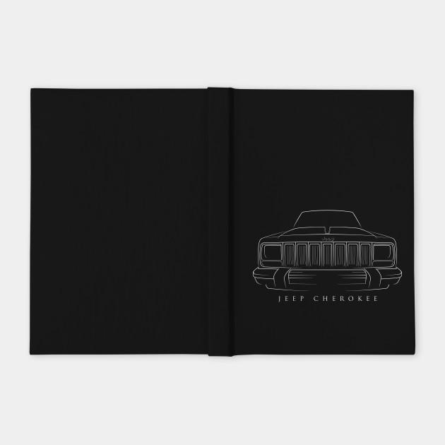 Jeep Cherokee XJ - front Stencil, white
