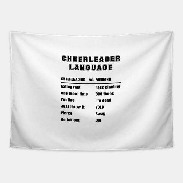 Cheerleader Language Cheerleading Slang Meaning