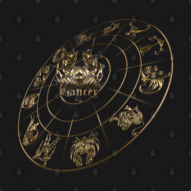 NEW Cancer 3D zodiac 12 in 1 gold edition