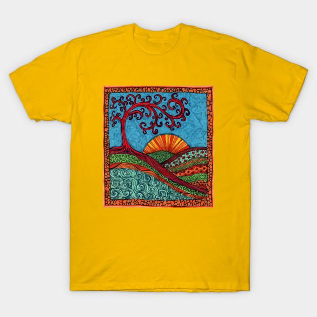 Swirly Tree of Life - Tree Of Life - T-Shirt   TeePublic