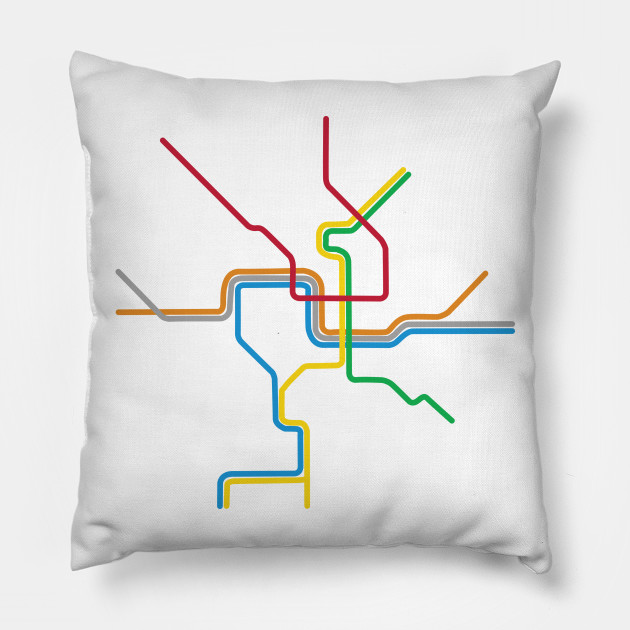 Dc Subway Map Pillow.The District