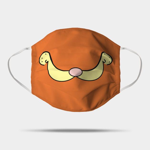 Garfield Smile Garfield Mask Teepublic Uk