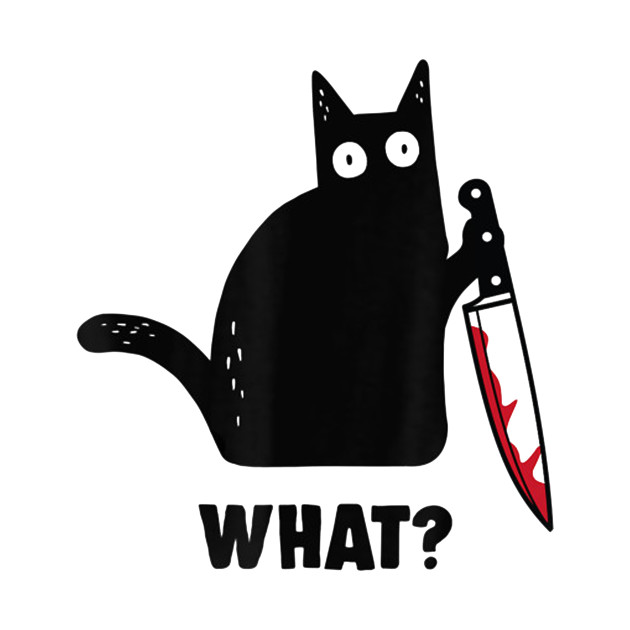 Black cat and knife what shirt