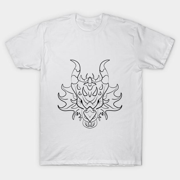 ef690cdc Black dragon design - Dragon - T-Shirt | TeePublic