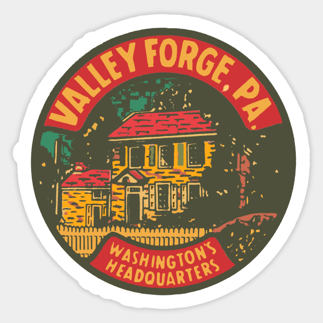 Vintage Valley Forge Decal