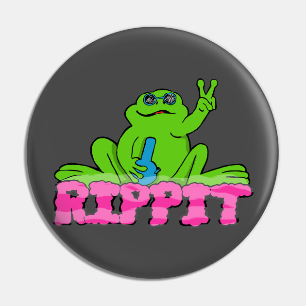 "NEW PEACE FROGS 1.25/"" RIGHT ON BUTTON"