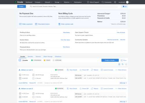 A thumbnail of the new Cloud Manager dashboard expanded summary list view
