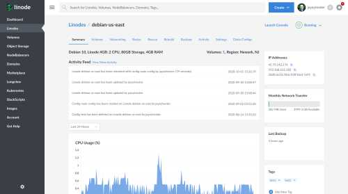 A thumbnail of the original Linode Cloud Manager detail view.