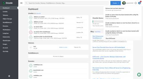 A thumbnail of the original Linode Cloud Manager notifications.