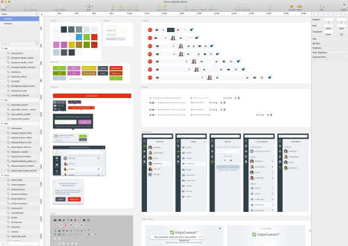A screen cap of the Vidyo UX style guide