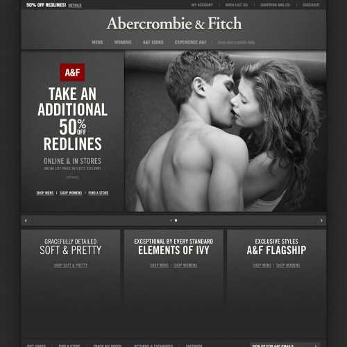 Abcrombie home page