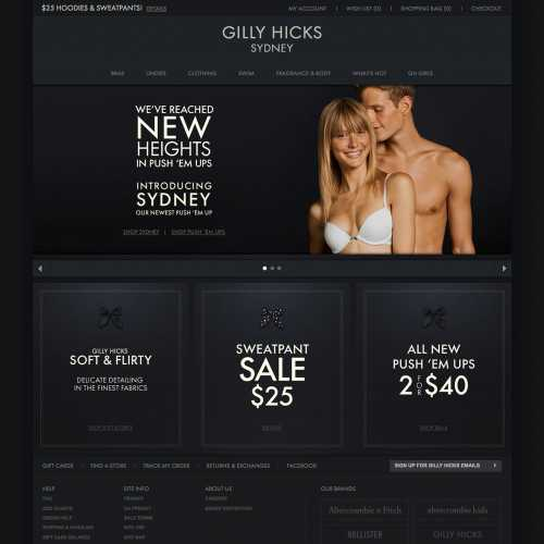 Gilly Hicks home page