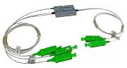 CCWDM 3ch +1310 SC/APC conn. 0,9mm pigtail 1m