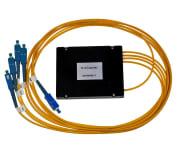 Splitter SM SC/UPC 1x4 PLC ABS boks, kassett type