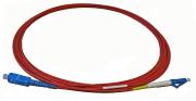 Utgår Fibersnor SM LC/UPC-SC/UPC simplex 3m rød farge