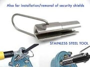Tool for security shields