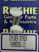Exp,voy Thumbscrew, white (2 pack)